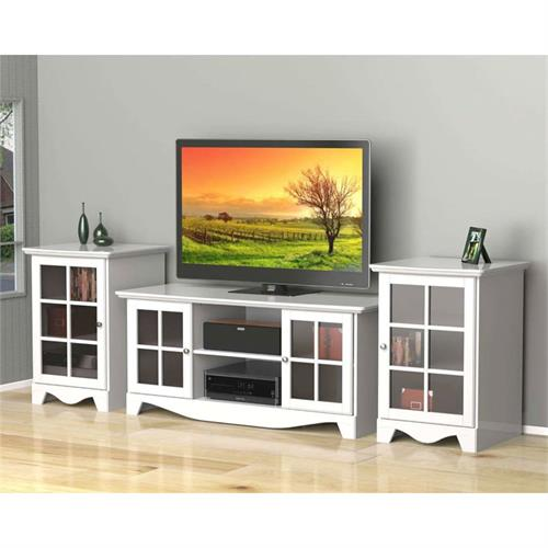 View a larger image of Nexera Pinnacle Entertainment Set (56-inch, AV Tower x2, White) 400373 here.