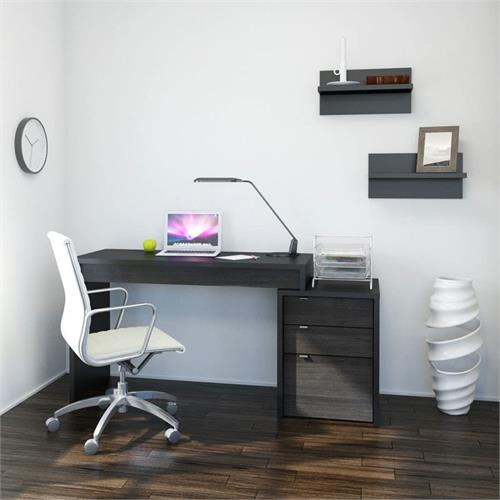 View a larger image of Nexera Sereni-T Home Office Set (3 Piece, Black and Ebony) 400618 here.