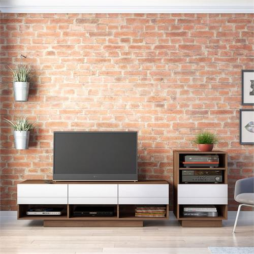 View a larger image of Nexera Sequence Entertainment Set (2 Piece, Walnut and White) 400684 here.