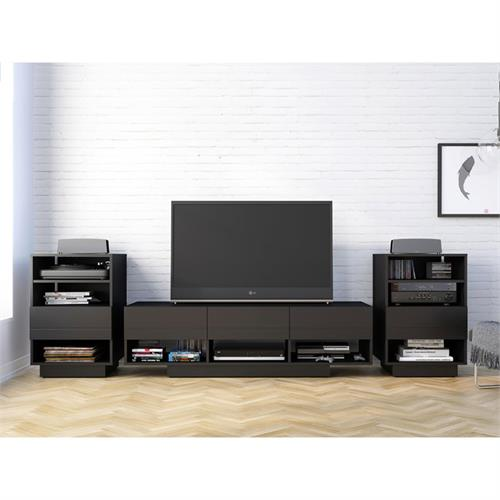 View a larger image of Nexera Stereo Series Entertainment Set (3 Piece, Black) 400926 here.