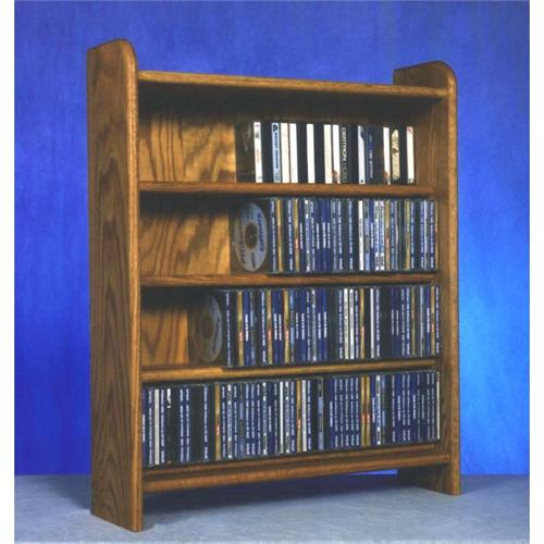 View a large image of the Wood Shed Solid Oak Cabinet CD Rack TWS-402 here.