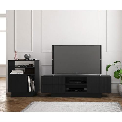 View a larger image of Nexera Galleri Entertainment Set (2 Piece, 60-inch, Black) 402176 here.