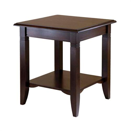 View a large image of the Winsome Wood Nolan End Table Cappucino 40220 here.
