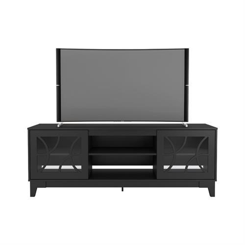 View a larger image of Nexera Venus TV Stand (71-inch, Black) 402318 here.