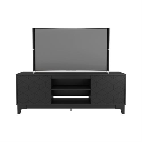 View a larger image of Nexera Hexagon TV Stand (71-inch, Black) 402319 here.