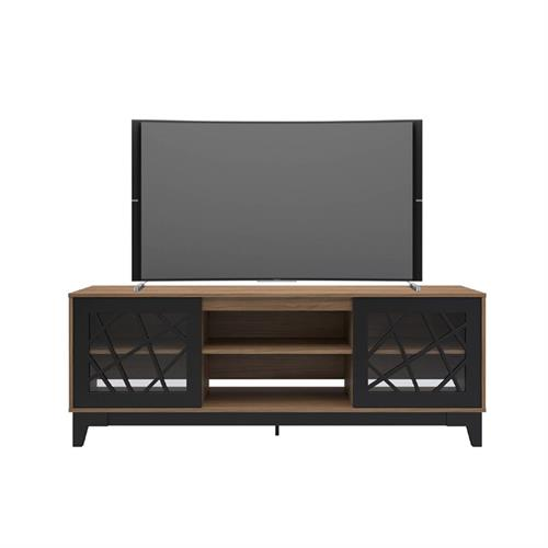 View a larger image of Nexera Graphik TV Stand (71-inch, Nutmeg and Black) 402328 here.