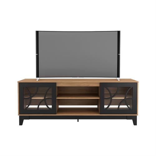 View a larger image of Nexera Venus TV Stand (71-inch, Nutmeg and Black) 402329 here.