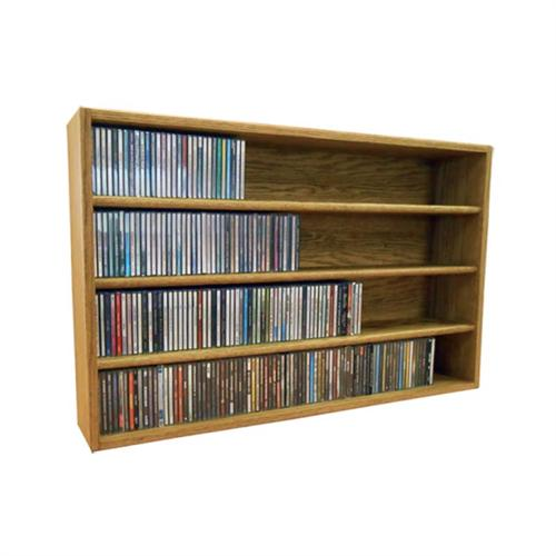 View a large image of the Wood Shed Solid Oak CD Storage Rack 376 CD Capacity TWS-403-3 here.