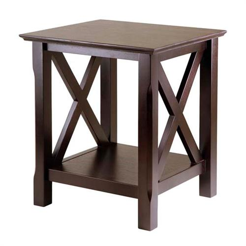 View a large image of the Winsome Wood Xola End Table Cappuccino 40420 here.