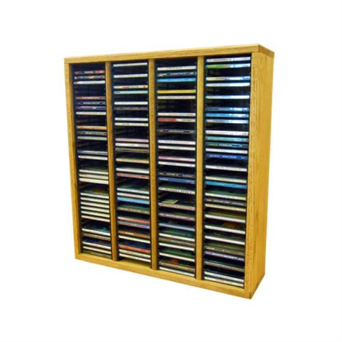 View a large image of the Wood Shed Solid Oak CD Rack 160 CD Capacity TWS-409-2 here.