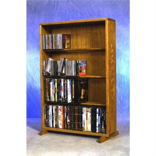 View a large image of the Wood Shed Solid Oak Combination CD and DVD Tower TWS-415-24COMBO here.