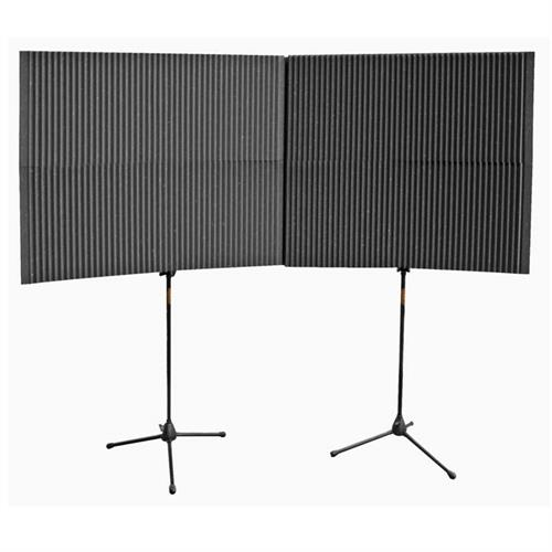 View a larger image of Auralex Acoustics MAX-Wall Mobile Expandable ISO Booth Kit (Charcoal) MAX420CHA.