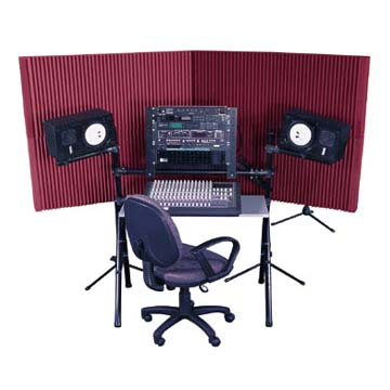 View a larger image of Auralex Acoustics MAX-Wall Mobile Expandable ISO Booth Kit (Burgundy) MAX420BUR.