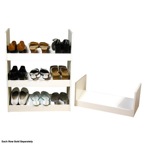 View a large image of the Venture Horizon Stackable Shoe Racks White 4215-11WH here.