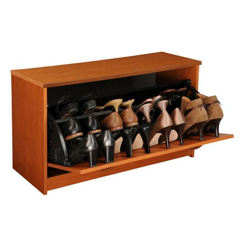 View a large image of the Venture Horizon Stackable Single Shoe Cabinet Cherry 4220-42CH here.