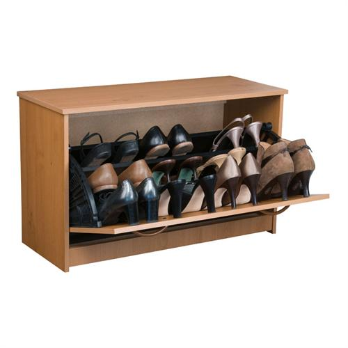 View a large image of the Venture Horizon Stackable Single Shoe Cabinet Oak 4220-33OA here.