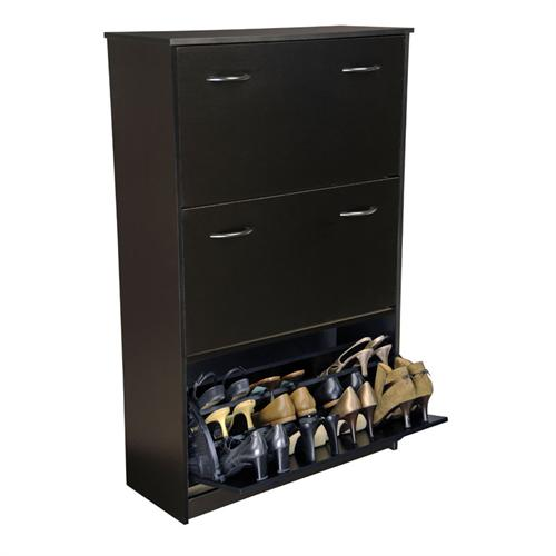 View a larger image of the Venture Horizon Triple Shoe Cabinet (Black) 4240-21BL.