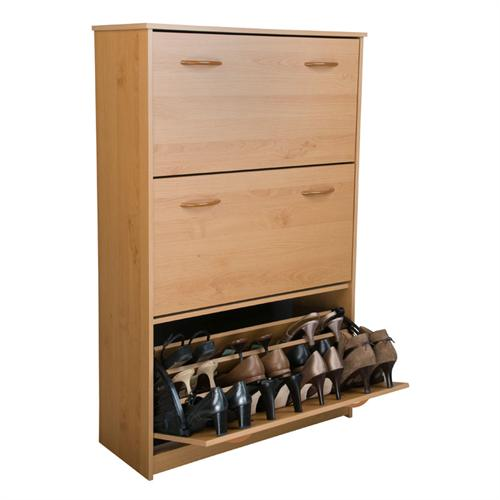 View a large image of the Venture Horizon Triple Shoe Cabinet Oak 4240-33OA here.