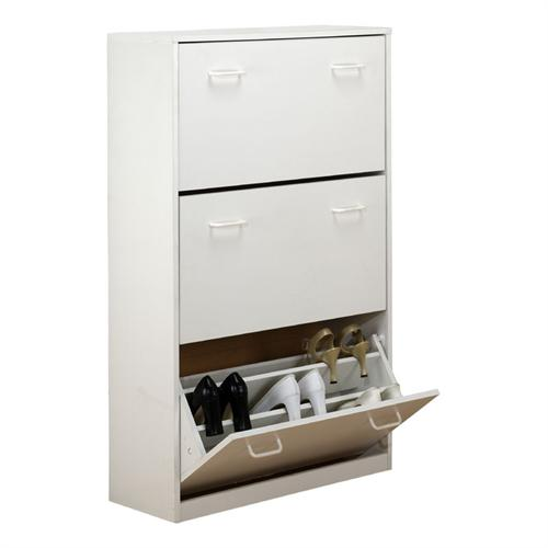 View a large image of the Venture Horizon Triple Shoe Cabinet White 4240-11WH here.