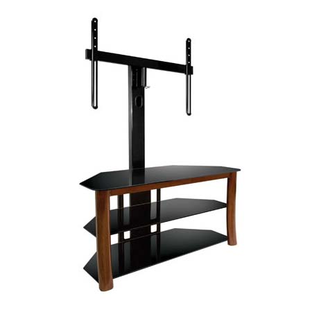 View a large image of the Bello Triple Play Universal Flat Panel TV Stand with Swivel Mount for Screens up to 55 inches Dark Cherry TP4501 here.