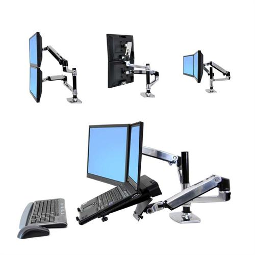 View a large image of the Ergotron LX Series 2 Monitor Stacking Desktop Mount for 10-23 inch Screens 45-248-026 here.