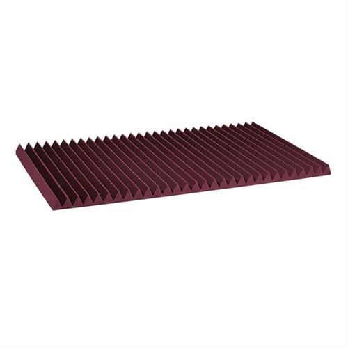View a large image of the Auralex Acoustics 4 inch Wedge StudioFoam Sound Absorption Panels 2x4 ft Burgundy Pack of 6 4SF24BUR here.