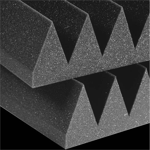 View a large image of the Auralex Acoustics 4 inch Wedge StudioFoam Sound Absorption Panels 2x2 ft Charcoal Pack of 6 4SF22CHA_HP here.