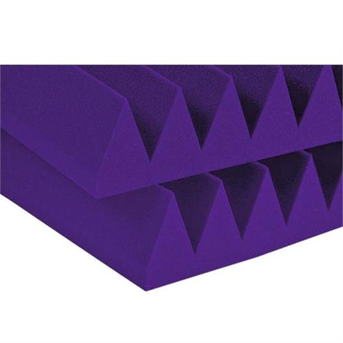 View a large image of the Auralex Acoustics 4 inch Wedge StudioFoam Sound Absorption Panels 2x4 ft Purple Pack of 6 4SF24PUR here.