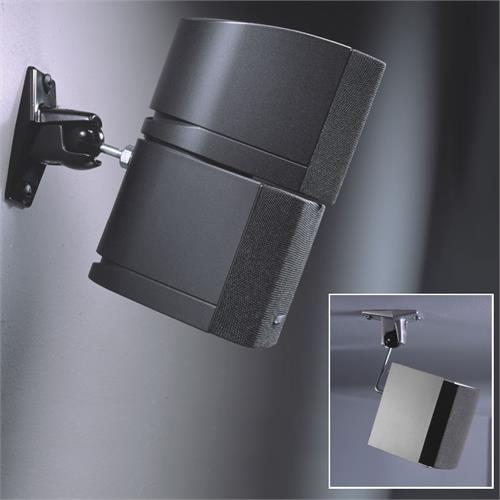 View a large image of the OmniMount Stainless Steel Series Wall or Ceiling Speaker Mount Black 5.0WC here.