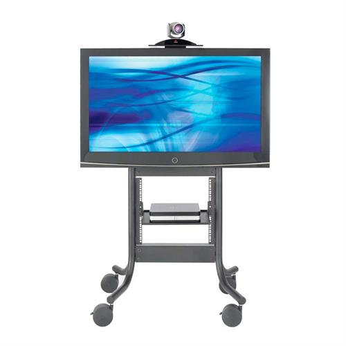 View a large image of the AVTEQ Executive Series Media Cart with Integrated 70 in. TV Mount and 10RU Rack Mount RPS-500S here.