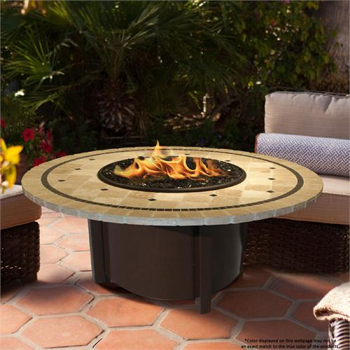 View a large image of the Fire Pit - Brown Carmel Chat Height & 48 inch Laguna Mosaic 5010-BR-PG2-LAG-48 here.