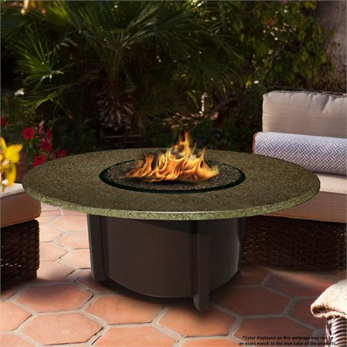 View a large image of the Fire Pit - Brown Carmel Chat Height & 48 inch Sea Green Granite 5010-BR-PG2-SEA-48 here.