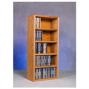 View a large image of the Wood Shed Solid Oak Wall Mount CD Racks TWS-503-1 here.