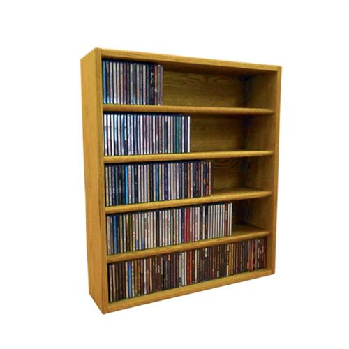 View a large image of the Wood Shed Solid Oak CD Storage Rack 310 CD Capacity TWS-503-2 here.