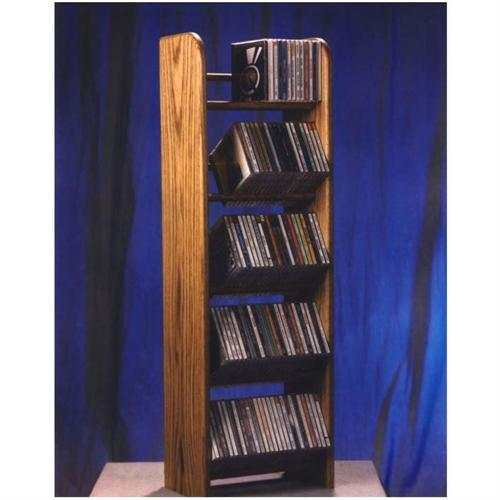 View a large image of the Wood Shed Solid Oak Dowel CD Storage Rack 130 CD Capacity TWS-504 here.
