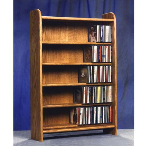 View a large image of the Wood Shed Solid Oak Cabinet CD Rack TWS-502 here.