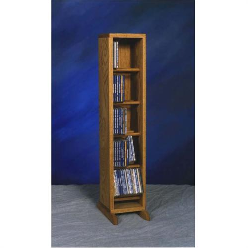 View a large image of the Wood Shed Solid Oak Dowel Space Saver CD Rack TWS-506 here.
