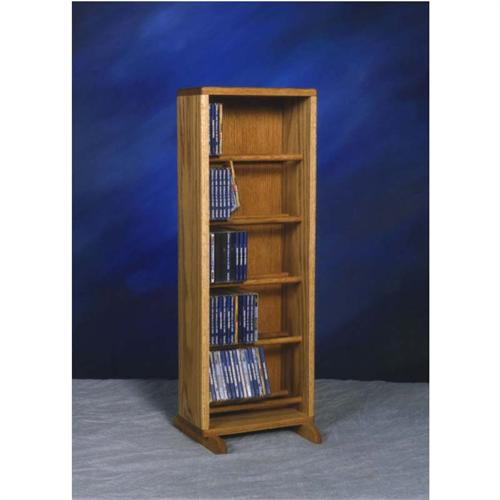 View a large image of the Wood Shed Solid Oak Dowel Space Saver CD Rack TWS-506-12 here.