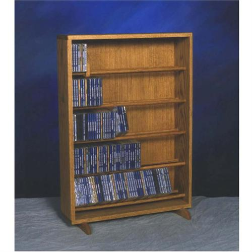 View a large image of the Wood Shed Solid Oak Dowel Space Saver CD Rack TWS-506-24 here.