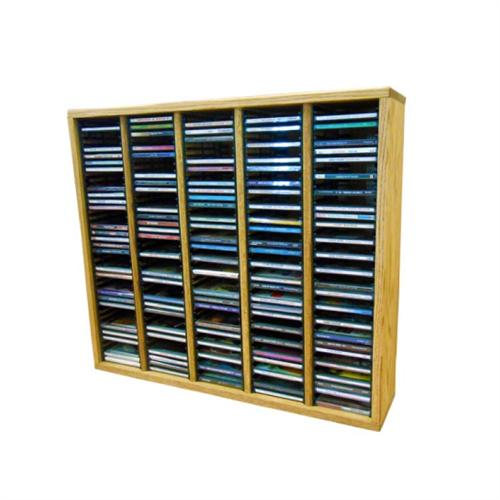 View a larger image of the Wood Shed Solid Oak CD Rack (200 CD Capacity) TWS-509-2.