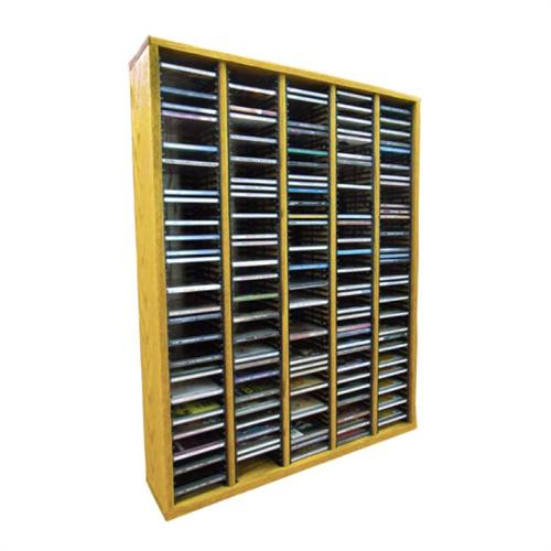 View a large image of the Wood Shed Solid Oak CD Rack 300 CD Capacity TWS-509-3 here.