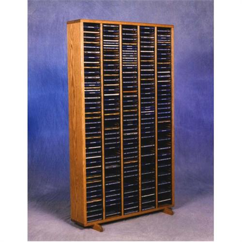 View a large image of the Wood Shed Solid Oak CD Rack TWS-509-4 here.