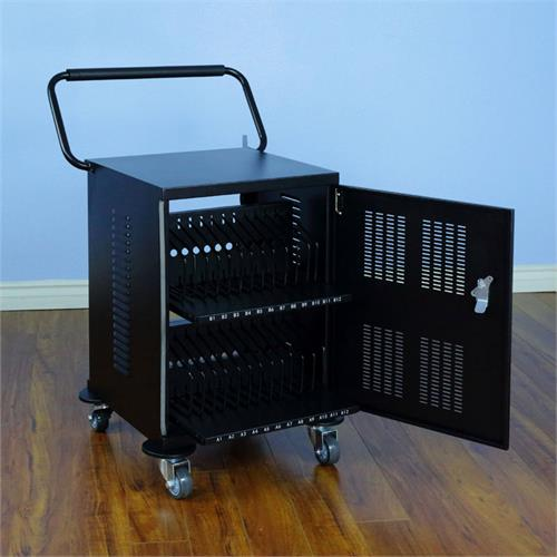 View a large image of the VTI 55024 24 Bay Universal Electronic Devices Charging Cart here.