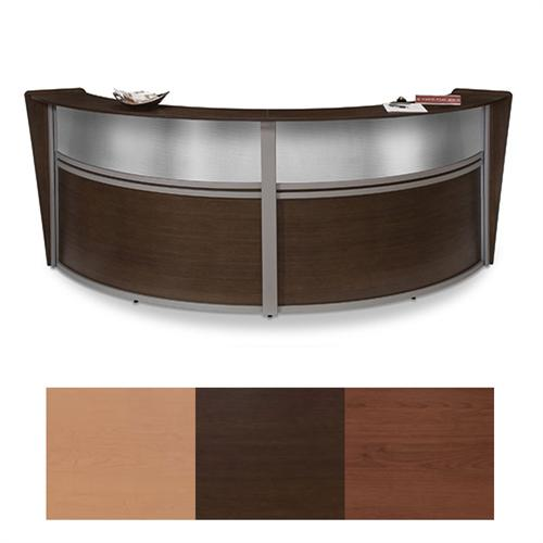 View a large image of the OFM Double Marquee Plexi Reception Station Various Finishes OFM-55312 here.