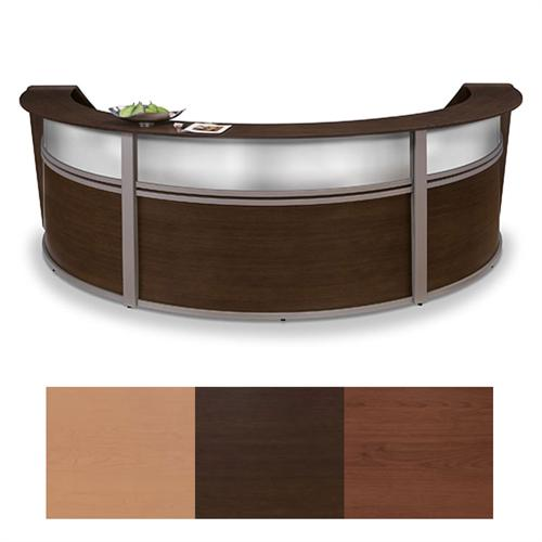 View a larger image of the OFM Triple Marquee Plexi Reception Station (Various Finishes) OFM-55313.