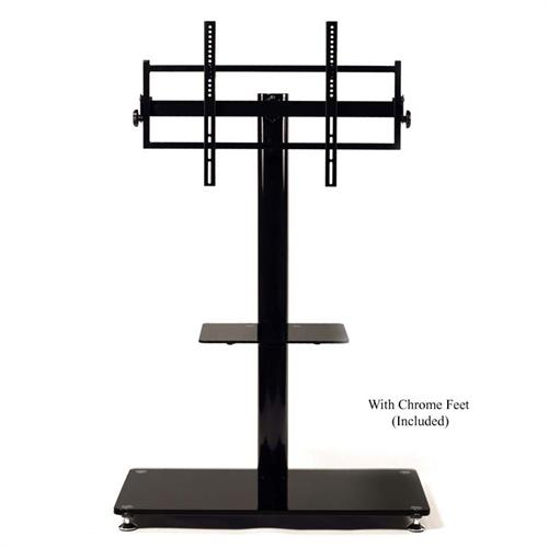 View a large image of the TransDeco 65 in. TV Stand with Attached Mounting System Black TD570B here.
