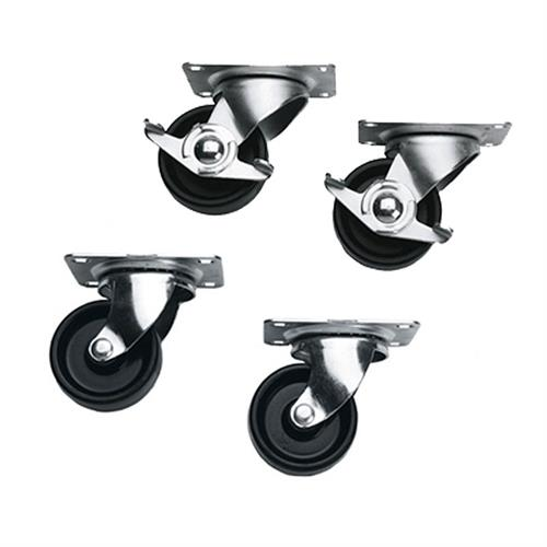 View a large image of the Middle Atlantic Slim 5 Series Locking Casters 4 Pack 5WL here.