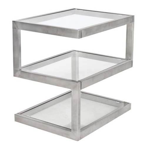 View a larger image of LumiSource 5S Clear Glass Side Table TB-5S SS.