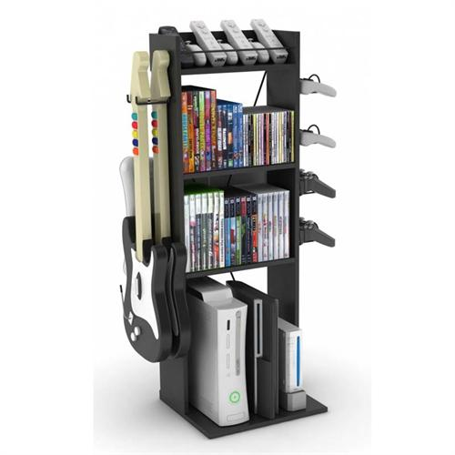 View a large image of the Atlantic Game Central Media Storage Stand Black 38806136 here.