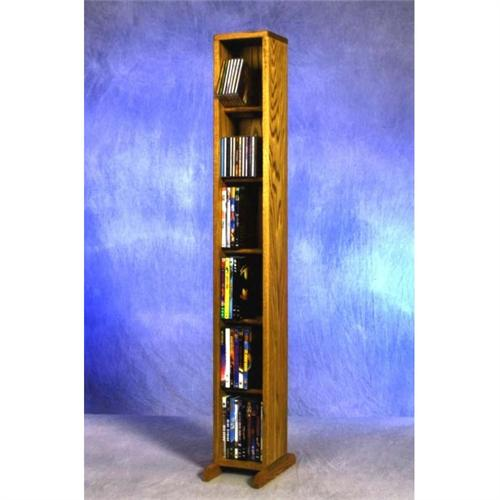 View a large image of the Wood Shed Solid Oak Combination CD and DVD Tower TWS-615COMBO here.